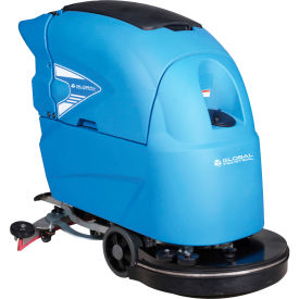 "Global Industrial™ Auto Floor Scrubber 20"" Cleaning Path, Two 115 Amp Batteries"