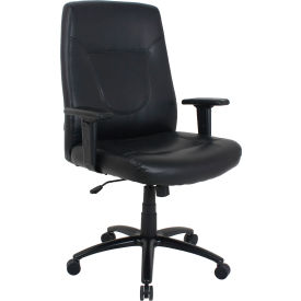 Big and Tall Executive Chair - Leather - High Back - Black