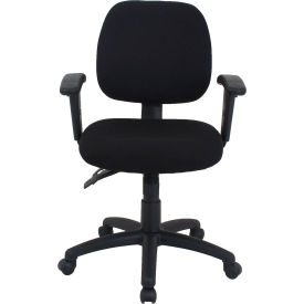 24/7 Fabric Task Chair - Mid Back - Black