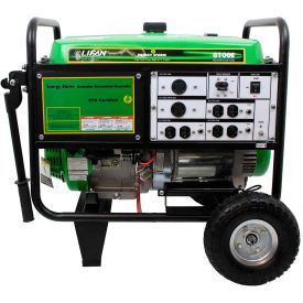 Lifan Power USA ES8100E, 7500 Watts, Portable Generator, Gasoline, Electric/Recoil Start, 120/240V