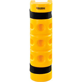 """Rack Protector with Cutout, 3"""" x 3"""" Opening, 18""""H, Yellow"""