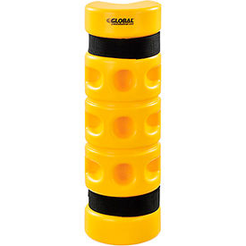"""Rack Protector, Rack End Mounting, 3"""" x 3"""" Opening, 18""""H, Yellow"""