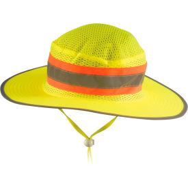 OccuNomix LUX-RNG-YM High Visibility Ranger Hat, Hi-Viz Yellow, M