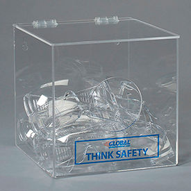 "Global Acrylic Safety PPE Dispenser, 10"" x 10"" x 10"", GLADB"