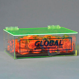 Global Acrylic Safety PPE Dispenser, Compact With Cover And Pad, GLADTC