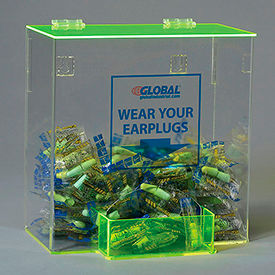 Global Acrylic Safety PPE Dispenser, Ear Plugs, Large, GLAEP-D