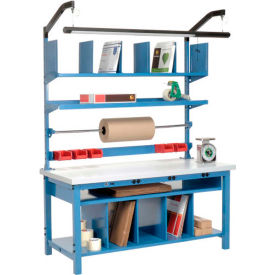 Complete Electric Packing Workbench Plastic Square Edge - 72 x 30