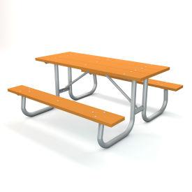 "72"" Recycled Plastic Picnic Table - Cedar"