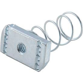 """Global Industrial 1-5/8"""" Channel Nut P1006-1420egs, Electro-Galvanized, 1/4-20 - Pkg Qty 25"""