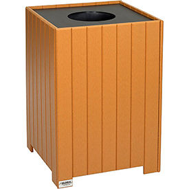 Global Industrial™ 32 Gallon Square Recycled Plastic Receptacle W/ Liner, Cedar