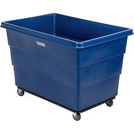Plastic Bulk Box Truck, 20 Bushel, Steel chassis Base, Blue