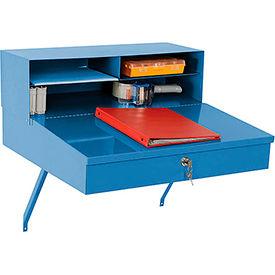"Wall Mounted Receiving Desk 24""W x 22""D - Blue"