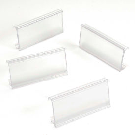 """Clear Label Holder for Wire Shelf 1-1/4""""H x 3""""W with Paper Insert  (25 Pc)"""
