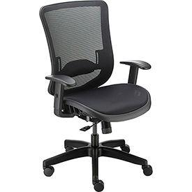 Heavy Duty All Mesh Task Chair, Black