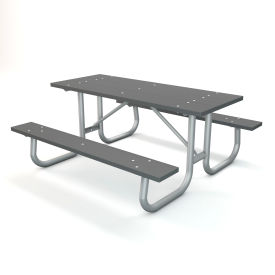 "72"" Recycled Plastic Picnic Table - Gray"