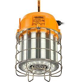 Global™ LED Temporary Area Work Light, 100W, 5000K, 12000 Lumens, 100-277V, Hook, 10' SJT Cord