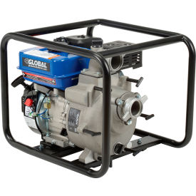 """Global Industrial™ GTP50A Portable Gasoline Trash Pump 2"""" Intake/Outlet 7HP"""