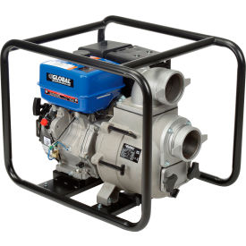 """Global Industrial™ GTP100A Portable Gasoline Trash Pump 4"""" Intake/Outlet 14HP"""
