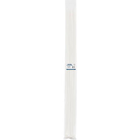 """Global Industrial™  48""""Cable Ties, Natural w/UV, 175 lb, 100 pack"""