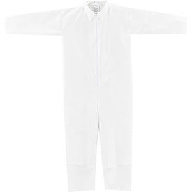 Disposable Microporous Coverall, Open Wrists/Ankles, White, 3X-Large, 25/Case