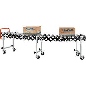 "Portable Flexible & Expandable 2'4"" to 8'11"" Conveyor - Steel Skate Wheels - 14""W"