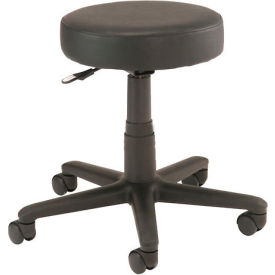 Interion® All Purpose Mobile Stool without Back, Black