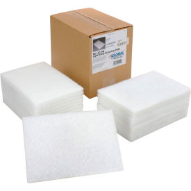 """Global Industrial™ Light Duty Scouring Pads, White, 6"""" x 9"""" - Case of 20 Pads"""