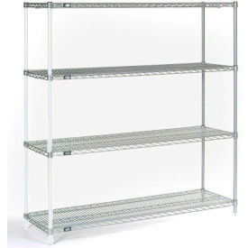 "Nexel® Chrome Wire Shelving Add-On - 48W"" x 12""D x 74""H"
