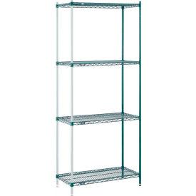 "Nexel® Poly-Green™ Wire Shelving Add-On 36W"" x 12""D x 54""H"