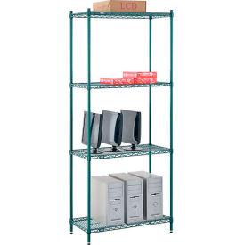 "Nexel® Poly-Green™ Wire Shelving Starter, 36W"" x 12""D x 74""H"
