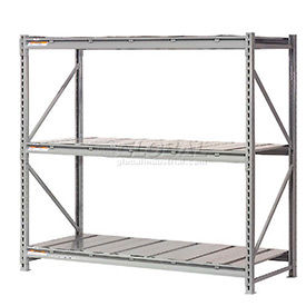 Global - Made in USA - Extra High Capacity Metal Bulk Storage Rack With Steel Deck