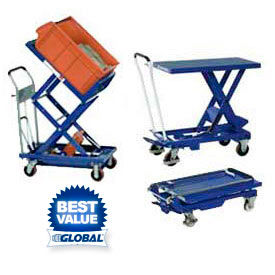 Mobile Scissor Lift Tables & Tilt Tables - Up To 2200 Lb. Capacity