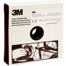 3M Utility Cloth Roll, 1 W x 50 Yd,  Aluminum Oxide, P120 Grit  - Pkg Qty 5