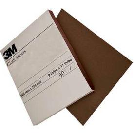 "3M™ Utility Cloth Sheet 011K  9"" x 11"" MED Grit Aluminum Oxide - Pkg Qty 50"