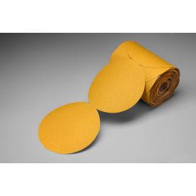 "3M™ Stikit™ Gold Film Disc Roll 255L 5"" X NH Aluminum Oxide P500 125 discs per roll - Pkg Qty 4"