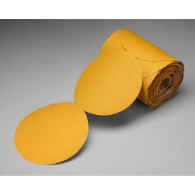 "3M™ Stikit™ Gold Film Disc Roll 255L 5"" X NH Aluminum Oxide P280 125 discs per roll - Pkg Qty 4"