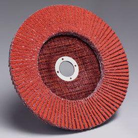 """3M™ Flap Disc 747D 4-1/2"""" x 7/8"""" T27 Ceramic 50 Grit - Pkg Qty 10"""