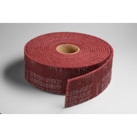 """3M™ Scotch-Brite™ Clean and Finish Roll 4"""" x 10 YDS Aluminum Oxide MED Grit - Pkg Qty 3"""