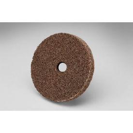 """3M™ Scotch-Brite™ EXL Unitized Wheel 2"""" x 1/4"""" x 1/4"""" CRS Grit Aluminum Oxide - Pkg Qty 60"""
