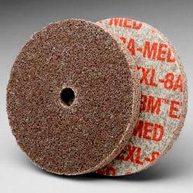 "3M™ Scotch-Brite™ EXL Unitized Wheel 3"" x 1/4"" x 1/4"" Aluminum Oxide 8A MED - Pkg Qty 40"