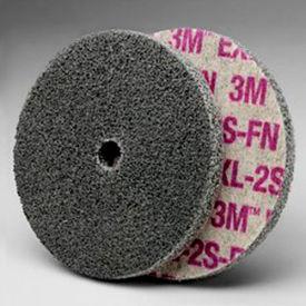"""3M™ Scotch-Brite™ EXL Unitized Wheel 3"""" x 1/4"""" x 3/8"""" Silicon Carbide 2S FIN"""