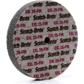 """3M™ Scotch-Brite™ EXL Unitized Wheel 6"""" x 1"""" x 1/2"""" Silicon Carbide 2S FIN"""