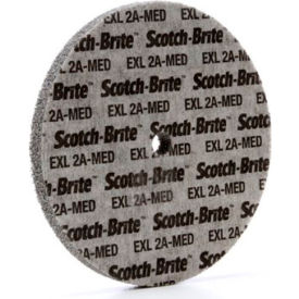 "3M™ Scotch-Brite™ EXL Unitized Wheel 6"" x 1/2"" x 1/2"" Aluminum Oxide 2A MED"