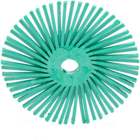 """3M™ Scotch-Brite™ Radial Bristle Disc 3"""" x 3/8"""" Ceramic 50 Grit - Pkg Qty 40"""