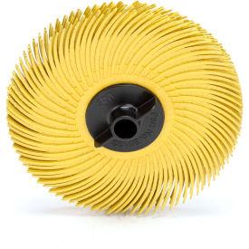 """3M™ Scotch-Brite™ Radial Bristle Disc Thin Bristle 3"""" x 3/8"""" Ceramic 80 Grit - Pkg Qty 80"""