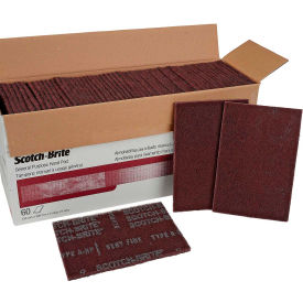 "3M™ Scotch-Brite™ General Purpose Hand Pad 7447B 6"" x 9"" Aluminum Oxide VFN Grit-60 Pads"