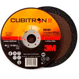 "3M Cubitron II Depressed Center Grinding Wheel 66589 6""x 1/4""x 7/8"" T27 Ceramic 36 Grt by"