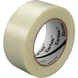 "3M™ Tartan™ 8934  Filament Tape 2"" x 110 Yds. 4 Mil Clear - Pkg Qty 24"