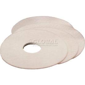 3M™ Carpet Bonnet Pad, White, 19 in, 5/case, 70071163110