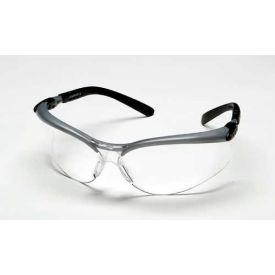 3M™ BX™ Protective Eyewear, Clear Lens, Silver/Black Frame, 1 Each